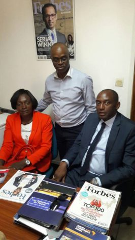 Françoise Mbango, Samuel Lobè Ewanè (Forbes Africa), Samuel Kotto (matys Capital)